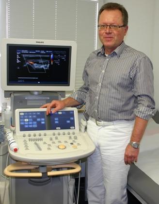C. Rossmanith beim Ultraschall